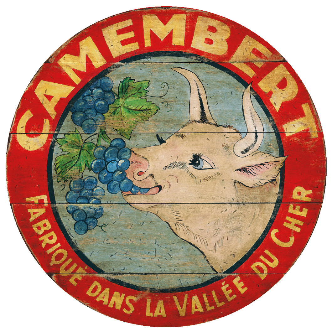 Camembert Cow eating grapes Art by Darrellene Designs