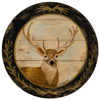 Deer with black border Wall Art or Lazy Susan