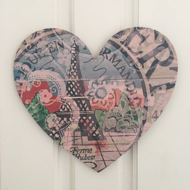 Heart Board Eiffel Tower Art
