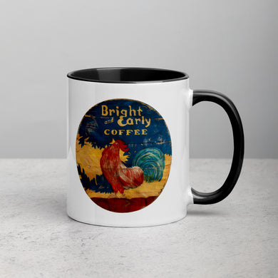 Bright & Early Rooster Mug with Color Inside