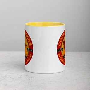 Red and Yellow Rooster Mug with Color Inside