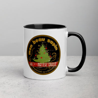 Christmas Tree Mug with Color Inside