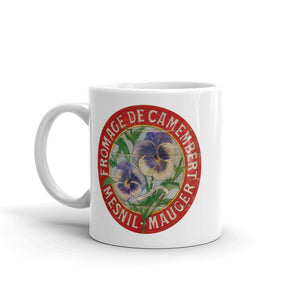 Purple Pansies White Glossy Mug