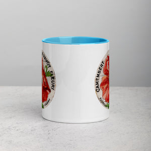 Red Poppy Cream Mug with Color Inside