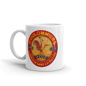 Red and Yellow Rooster White Glossy Mug