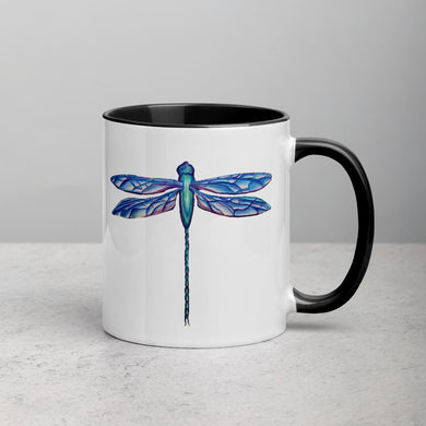 Dragonfly Mug with Color Inside