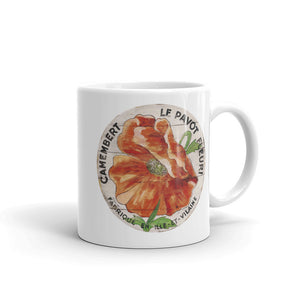 Orange Poppy White Glossy Mug