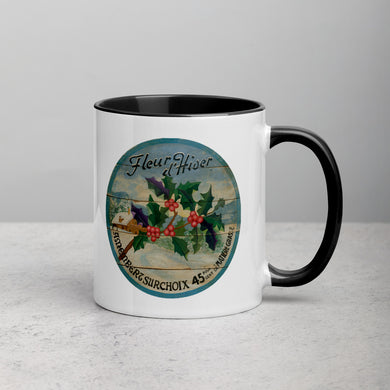 Winter Holly Mug with Color Inside