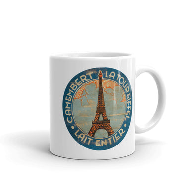 Eiffel Tower in Clouds White Glossy Mug