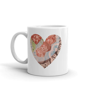 Heart Mug with our Red Cherries Art