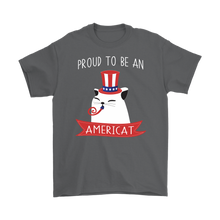 Load image into Gallery viewer, Charcoal PROUD TO BE AN AMERICAT Men