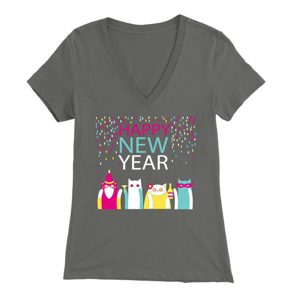 HAPPY NEW YEAR GRAY FOR WOMEN
