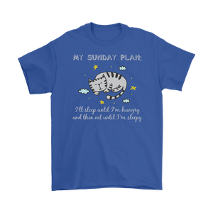 Royal Blue MY SUNDAY PLAN Men