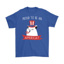 Load image into Gallery viewer, Royal Blue PROUD TO BE AN AMERICAT Men