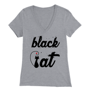 BLACK CAT DESIGN ATHLETIC HEATHER FOR WOMEN