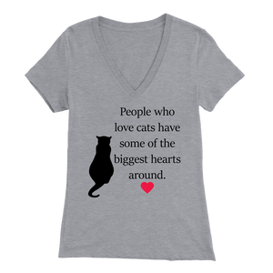 Athletic Heather People Who Love Cats Women