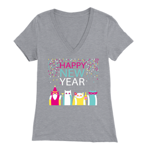 HAPPY NEW YEAR LIGHT GRAY FOR WOMEN