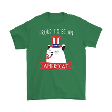 Load image into Gallery viewer, Irish Green PROUD TO BE AN AMERICAT Men
