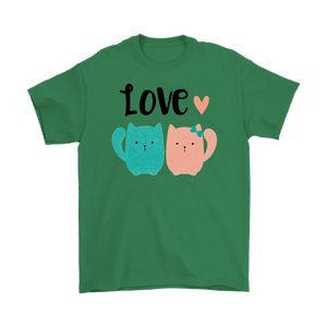 2 CATS IN LOVE GREEN