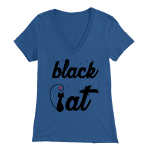 Load image into Gallery viewer, BLACK CAT DESIGN BLUE FOR WOMEN