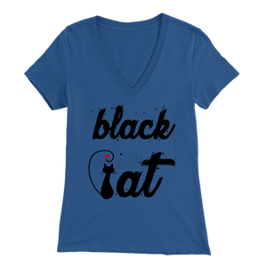 BLACK CAT DESIGN BLUE FOR WOMEN