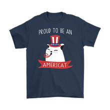 Load image into Gallery viewer, Navy PROUD TO BE AN AMERICAT Men