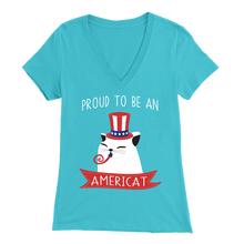 Load image into Gallery viewer, Turquoise PROUD TO BE AN AMERICAT Women