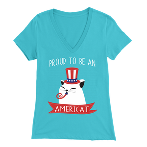 Turquoise PROUD TO BE AN AMERICAT Women