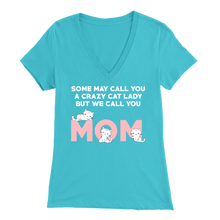 Load image into Gallery viewer, Turquoise Crazy Cat Lady But We Call You Mom Women