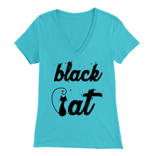 Load image into Gallery viewer, BLACK CAT DESIGN LIGHT BLUE FOR WOMEN