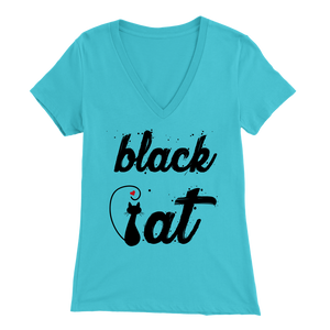 BLACK CAT DESIGN LIGHT BLUE FOR WOMEN