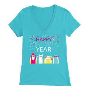 HAPPY NEW YEAR LIGHT BLUE FOR WOMEN