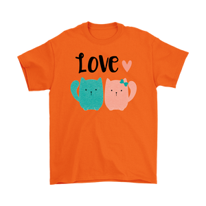2 CATS IN LOVE ORANGE