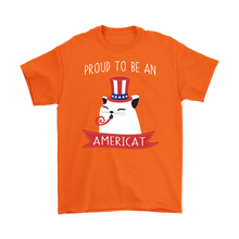 Load image into Gallery viewer, Orange PROUD TO BE AN AMERICAT Men