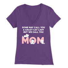 Load image into Gallery viewer, Purple Crazy Cat Lady But We Call You Mom Women