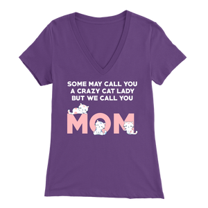 Purple Crazy Cat Lady But We Call You Mom Women