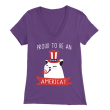 Load image into Gallery viewer, Purple PROUD TO BE AN AMERICAT Women