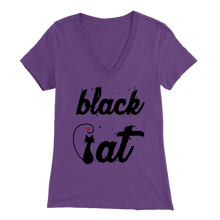 Load image into Gallery viewer, BLACK CAT DESIGN PURLE FOR WOMEN