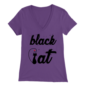 BLACK CAT DESIGN PURLE FOR WOMEN