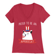 Load image into Gallery viewer, Red PROUD TO BE AN AMERICAT Women