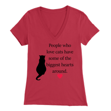 Load image into Gallery viewer, Red People Who Love Cats Women