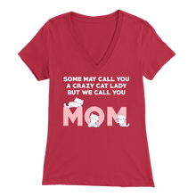 Load image into Gallery viewer, Red Crazy Cat Lady But We Call You Mom Women