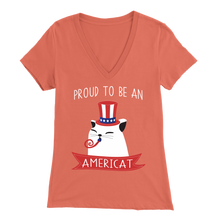 Load image into Gallery viewer, Coral PROUD TO BE AN AMERICAT Women
