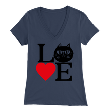 Load image into Gallery viewer, Navy Love Design Women