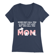 Load image into Gallery viewer, Navy Crazy Cat Lady But We Call You Mom Women