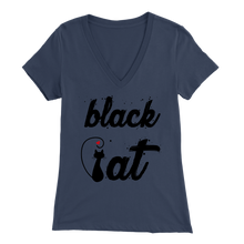 Load image into Gallery viewer, BLACK CAT DESIGN NAVY FOR WOMEN