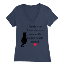 Load image into Gallery viewer, Navy People Who Love Cats Women