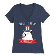 Load image into Gallery viewer, Navy PROUD TO BE AN AMERICAT Women