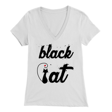 Load image into Gallery viewer, BLACK CAT DESIGN WHITE FOR WOMEN
