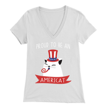 Load image into Gallery viewer, White PROUD TO BE AN AMERICAT Women